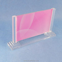 high clear acrylic detachable countertop photo picture frames with bottom base