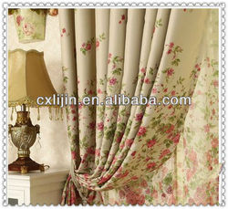 2015 New fashion 100% polyester flower printed bed cover fabric