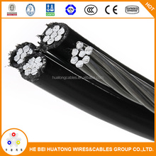 Overhead 4-core XLPE Insulated twisted aluminum ABC Aerial bundle cable