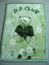 Manufactory wholesale best selling cheap luxury warm new design baby bear blanket