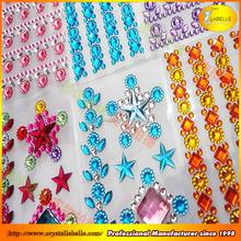 Crystal mobile phone stickers DIY rhinestone diamond sticker