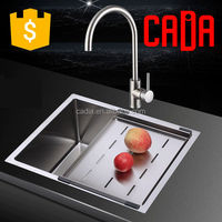 cadia 304 stainless steel high quality custom size kitchen sink CA-TAF4444P