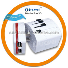 Best quality universal travel adapter with usb charger fir apple and samsung smart phone