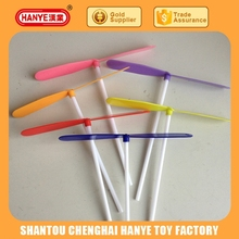 Plastic dragonfly flying stick promotional gift toys