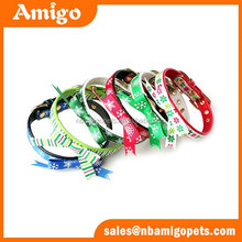 competitive price hot sale bowknot decoration fashion cloth pet products, dog collar,pet collar