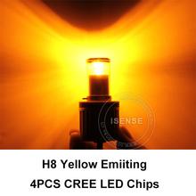 Dual colors 3 modes H8 led fog lights bulb head lamp rear fog lamp 10W DC9-30V