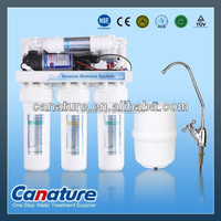 75GPD 5 stages hoursehold RO water treatment with boost pump and tank