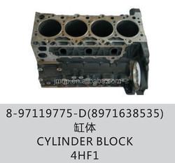 Cylinder block for ISUZU 700P NPR 4HF1 OEM:8-97119775-D(8971638535)