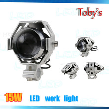 New coming aluminum waterproof auto parts 6000k 3000LM 12V 125W spot motorcycle headlights 15W U5 led light motorcycle