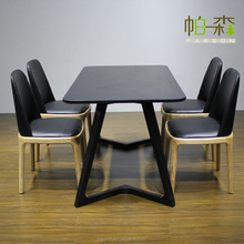 Japanese pure solid wood dining table / modern simplicity / not a telescopic /oak restaurant furniture