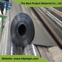 1mm 1.5mm 2mm HDPE Waterproofing Roofing Membrane Sheet