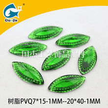 glue on marquise resin jewelry bead factory