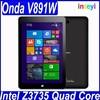 """8.9"""" IPS 1920x1200 Onda V891w Windows 8.1 win8 tablet pc Intel Z3735F Quad Core 1.83GHz 2GB/32GB OTG Good Camera 5.0MP BT WIFI"""
