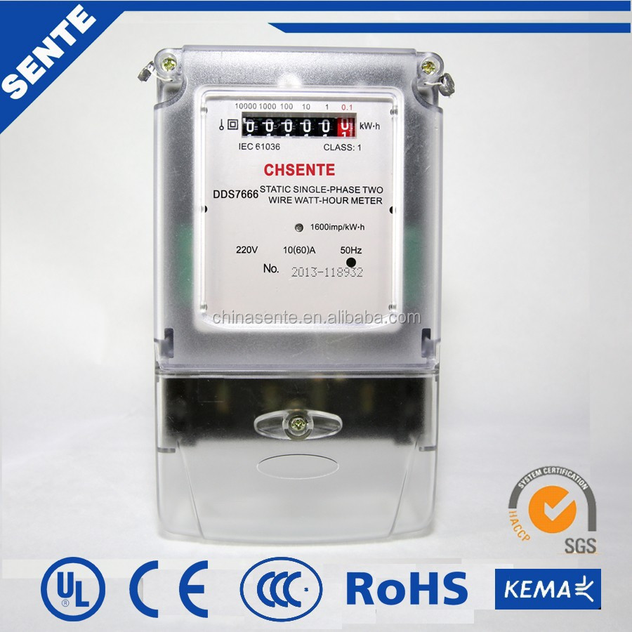 Single Phase Electric Meter : Pe single phase v electric meter with zigbee