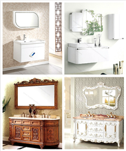 Slim Hallway Bamboo Bathroom Vanity Furnitures Cabinets