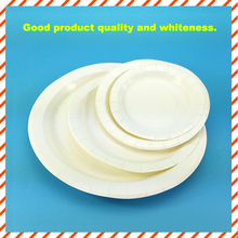 Wholesale all sizes white disposable paper plate