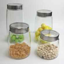 Plain Glass Storage Jar/ Glass Food Container