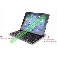 Ultralthin Aluminum Bluetooth Keyboard for iPad 4 with 7 Colors Backlighting