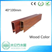WPC wooden texture ceiling, composite materials