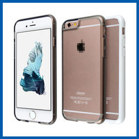 C&T New matte transparent hard pc back panel soft tpu bumper mobile phone cover case for iphone 6s