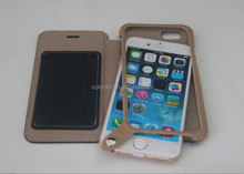 Luxury leather case with snap button for smart mobile phone