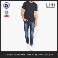 Hot sales fancy slim blue elegant jeans for men