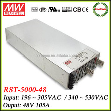 Meanwell high voltage power supply 48v 105a RST-5000-48