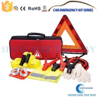 Car Safety Kit with Booster Cable Roadside Emergency Tool