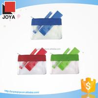 Colorful pvc pencil case with zipper