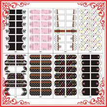 X0385-X0400 Wholesale Real Nail Polish Strips Luxury Designs And Nail Polish Sticker