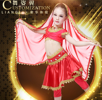 Newest Wuchieal Indian Belly Dance Children Performance Costumes, Top Grade Children Belly Dance Costumes