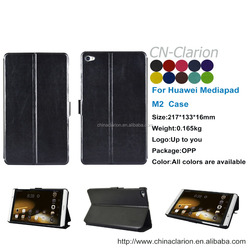 Tablet Covers High Quality Newest Promotional 8 inch Tablet PU Leather Case For Huawei Mediapad M2 Case, Black