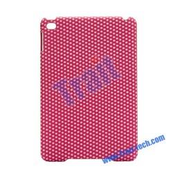 Cute Polka Dots Pattern Leather Coated PC Hard Case for iPad Mini 3, Case for iPad Mini 2 Retina, Cover For iPad Mini