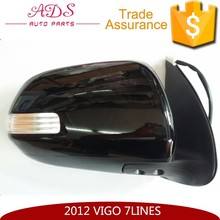 RH car digital rearview mirror with 7 lines and lamp for left hand drive Vigo 2012