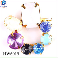 HW6019 colorful crystal high heel tennis shoes clip shoe buckle