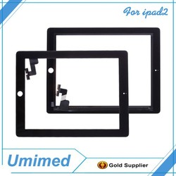 Black Replacement Touch Screen Glass Digitizer and Adhesive for iPad 2
