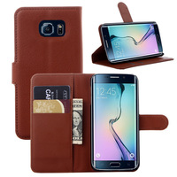 New Galaxy S Leather Case Cover for Samsung Galaxy S3 S4 S5 Mini S6 Edge A3 A5 A7 E3 E5 E7 Flip Case For Note 2 3 4 Black Brown