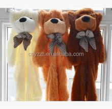 plush toy skin/custom unstuffed teddy bear plush toys skin/unstuffed plush animal skins