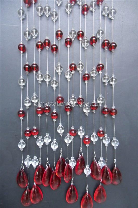 rideaux de porte en perles de verre