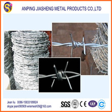 2015 hot sale 12 14 16 gauge galvanized GI barbed wire (best quality and jiasheng factory)