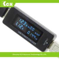 High voltage digital usb mobile phone battery analyzer 12v lcd battery capacity tester KCX-045