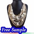 La muestra libre, 2015 nuevos productos oro con cadena larga collar de perlas