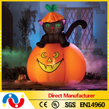 2015 Hot Sale Yard Decoration inflatable led lights party halloween pumpkin