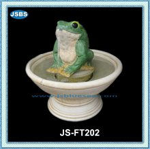 natural stone modern frog water fountain garden