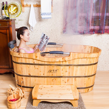 China kangxi cheap solid wood square bathtub , cheap freestanding bathtub