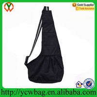 Wholesale Small Black Oxford Cloth Sling Pet Dog Cat Carrier Bag