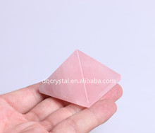 wedding use rose crystal pyramid for lucky decoration