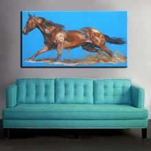 Excellent Quality Professional Skilled Painter Handpainted Abstract Living Room And Drawing Room Wall Abstract Horse Decor