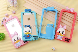 Cute animal shape silicone cheap mobile phone case for iphone 5s