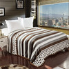 china single air conditioning blanket double thickened printed sofa bed flannel fleece blanket